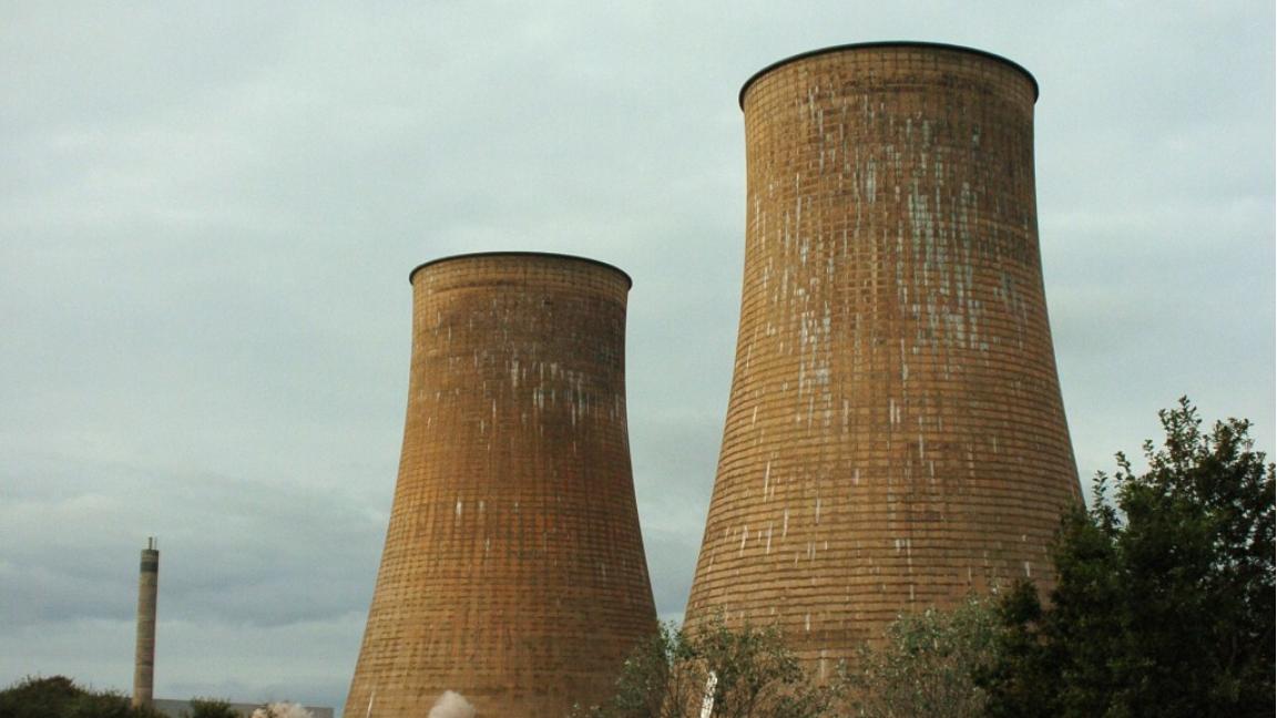 Cooling tower demolition
